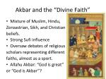 akbar and the divine faith