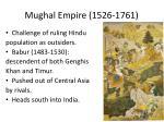 mughal empire 1526 1761