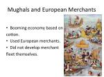mughals and european merchants