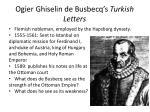 ogier ghiselin de busbecq s turkish letters