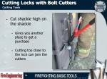 cutting locks with bolt cutters