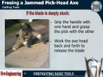 freeing a jammed pick head axe1