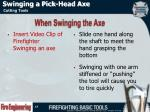 swinging a pick head axe2