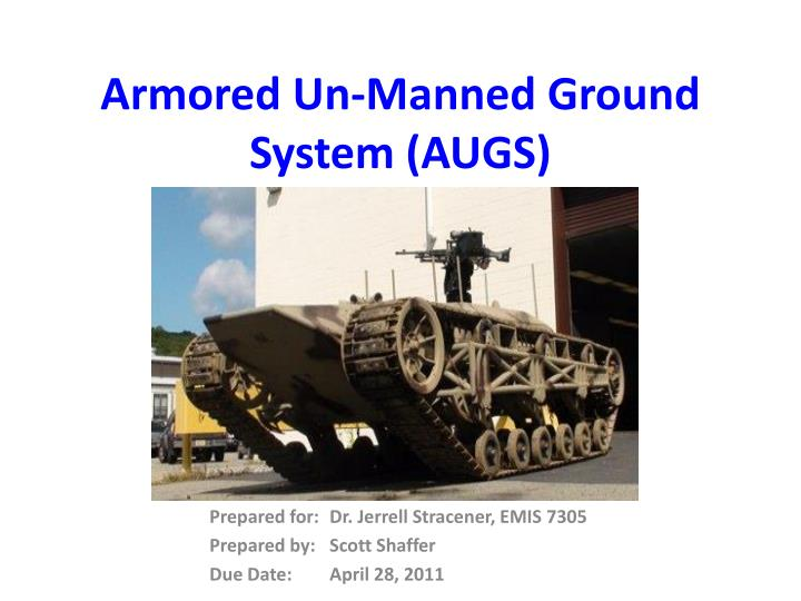 armored un manned ground system augs n.