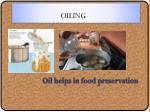 oiling