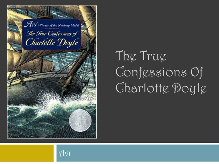 the true confessions of charlotte doyle n.