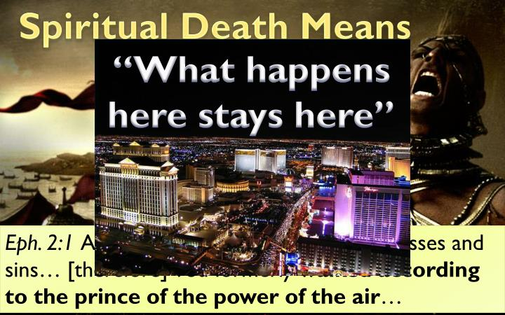 Spiritual Death Means