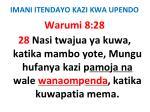 imani itendayo kazi kwa upendo