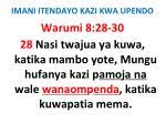 imani itendayo kazi kwa upendo20