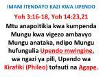 imani itendayo kazi kwa upendo25