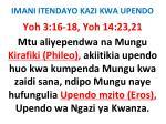 imani itendayo kazi kwa upendo27