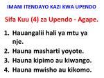 imani itendayo kazi kwa upendo4