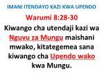 imani itendayo kazi kwa upendo51