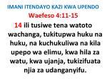 imani itendayo kazi kwa upendo55