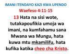 imani itendayo kazi kwa upendo56