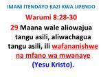 imani itendayo kazi kwa upendo66