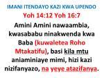 imani itendayo kazi kwa upendo76