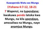 kuwapenda watu wa mungu14
