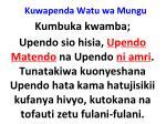 kuwapenda watu wa mungu29