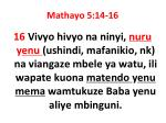 mathayo 5 14 161