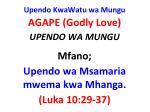 upendo kwawatu wa mungu