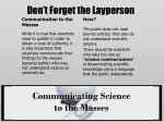 don t forget the layperson
