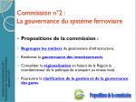 commission n 2 la gouvernance du syst me ferroviaire
