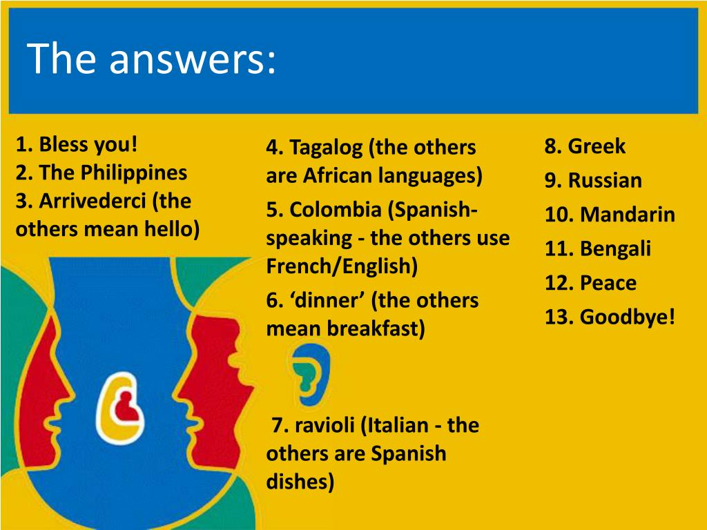 PPT - European Day of Languages 10-minute Quiz – Years 9-13