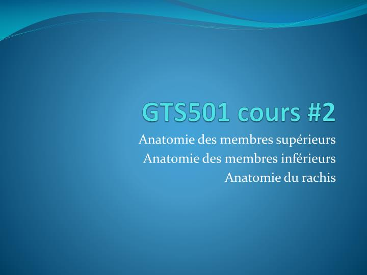 gts501 cours 2 n.