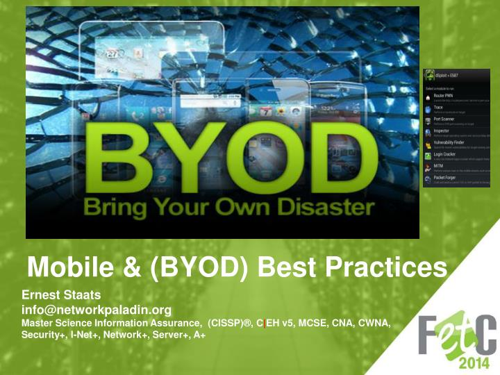 mobile byod best practices n.