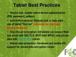 tablet best practices