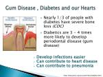 gum disease diabetes and our hearts