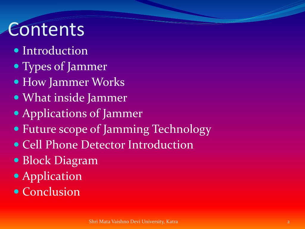 PPT - Cell Phone Jammer PowerPoint Presentation - ID:2085808