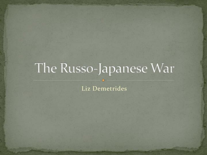the russo japanese war n.