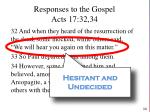 responses to the gospel acts 17 32 341