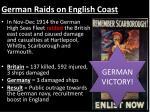 german raids on english coast