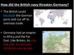 how did the british navy threaten germany