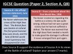 igcse question paper 2 section a qb
