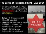 the battle of heligoland bight aug 1914