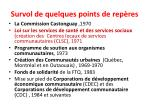 survol de quelques points de rep res
