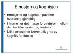 emosjon og kognisjon