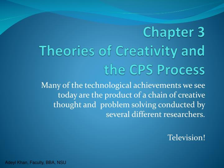 chapter 3 theories of creativity and the cps process n.