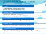 conditions of creative thinking