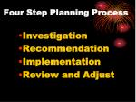 four step planning process