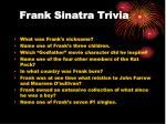 frank sinatra trivia