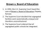 brown v board of education