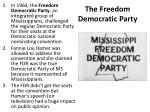 the freedom democratic party