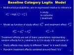 baseline category logits model