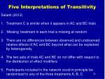 five interpretations of transitivity