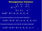 homogeneous variance